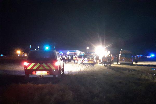 L'accident est survenu peu avant 19h, lundi 20 juillet, à hauteur d'Albon dans la Drôme.