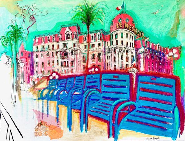 Le Negresco et la Promenade des anglais à Nice vus par Virginie Broquet