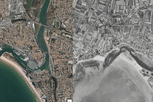 La ville de Saint-Gilles Croix de Vie en Vendée, évolution de l'urbanisation entre 1960 et 2016