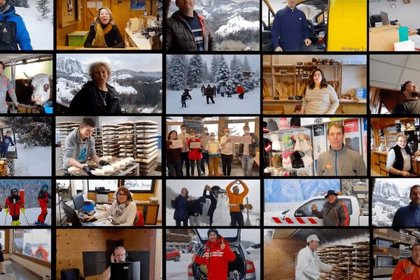Le clip de la station de Manigod, en Haute-Savoie, a réuni près de 145 participants.