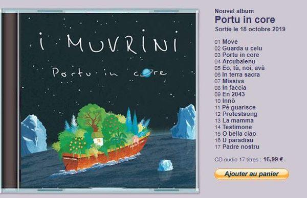 L'album Portu in core d'I Muvrini est désormais dans les bacs.