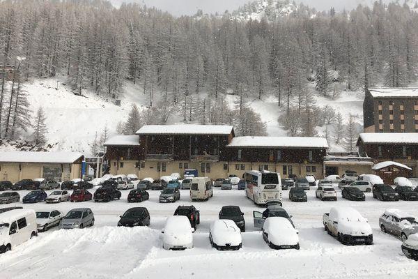 Isola 2000 sous la neige, le 27 janvier 2018