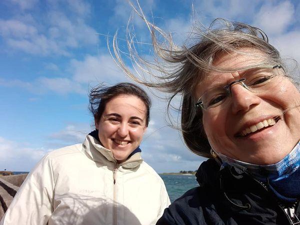 Un bol d'air et weekend au grand air en Bretagne pour cette étudiante.