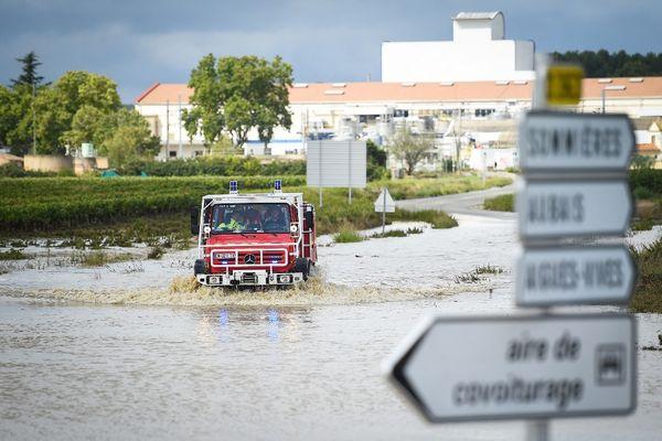 Les inondations ont touché Aigues-Vives dans le Gard, dans la nuit du 13 au 14 septembre 2021.