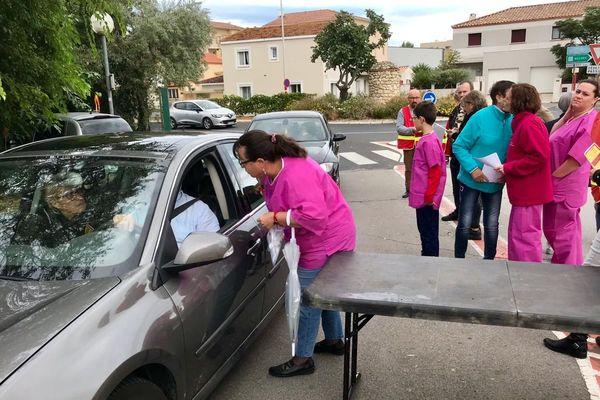 Narbonne (Aude) : mobilisation contre le projet de fermeture de la maternité privée de la polyclinique - 11 septembre 2019.