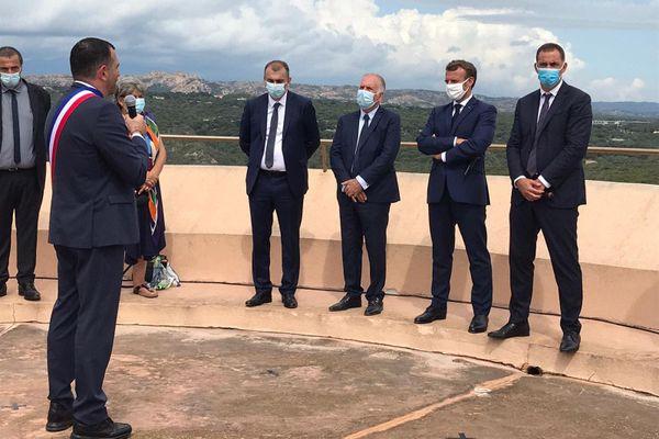 Emmanuel Macron était de passage à Bonifacio, ce jeudi 10 septembre.