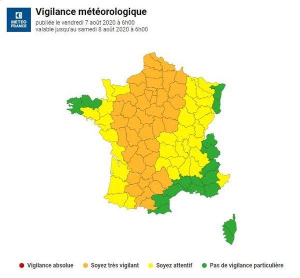 Toute la région Centre-Val de Loire est en vigilance orange en raison du pic de chaleur.