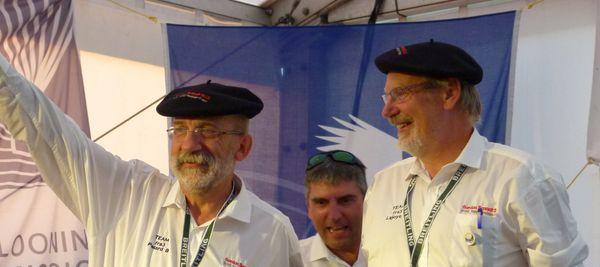 Benoît Pelard et Laurent Lajoye lors de la cérémonie d'ouverture de la Gordon Bennett