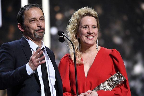 """Les réalisateurs Andréa Bescond et Eric Metayer reçoivent le César de la meilleure adaptation pour """"Les Chatouilles"""""""