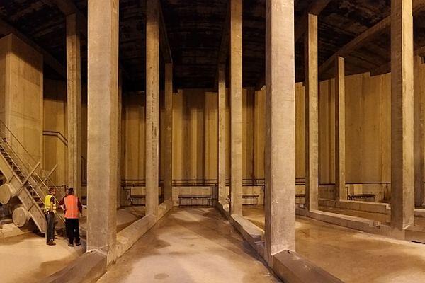 Le bassin de stockage a été installé dans le quartier de Neufchâtel.