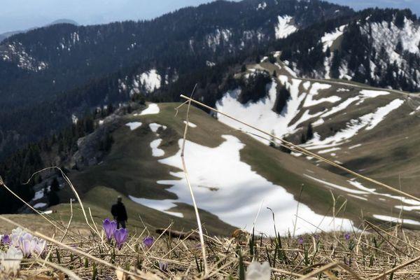 La neige a du mal à fondre au dessus de 1500 mètres - Photo d'illustration