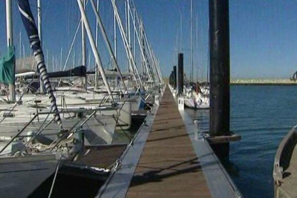 Le premier nouveau ponton du Port des Minimes à La Rochelle