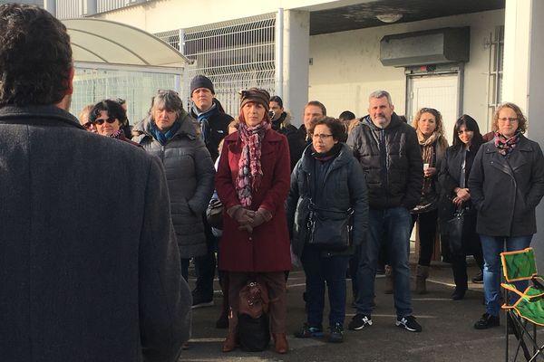 Assemblée générale devant le centre des finances publiques du Mirail à Toulouse
