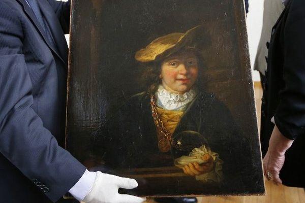 Le tableau présenté à la presse le 20 mars dernier après avoir été retrouvé à Nice.