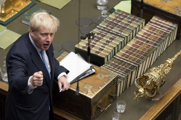 Boris Johnson, jeudi, au Parlement britannique.