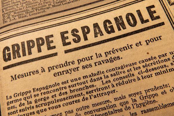 Plus de 200 000 personnes périront en France de la grippe espagnole selon certaines estimations. 50 millions dans le monde.