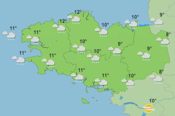 Prévisions météo pour lundi 15 février 2021 dans l'après-midi