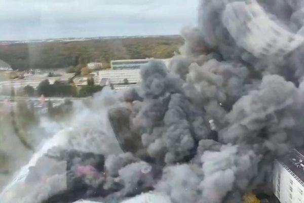 L'incendie du 24 octobre 2020 vu de l'hélicoptère de la Sécurité Civile