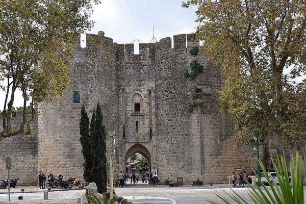 La porte de la Gardette, la plus empruntée pour rejoindre le coeur de la cité d'Aigues-Mortes.