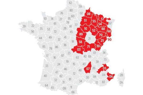 Le journal le Parisien a très vite dévoilé la carte des 20 départements qui pourraient basculer en couvre-feu à 18 heures dès le 2 janvier.