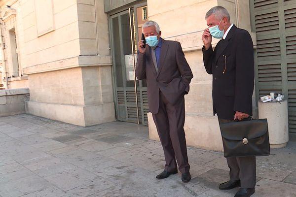 Mathieu et Louis Paoli, après leur entretien avec le procureur de la République.
