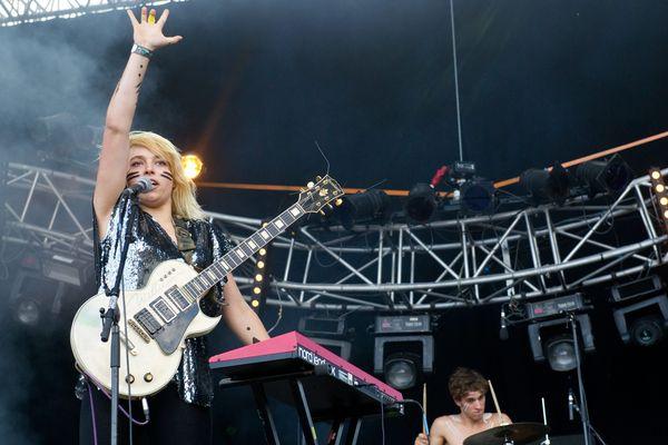 Hyphen Hyphen, au parc de Saint-Cloud, le 25 août 2012, lors du festival Rock en Seine.