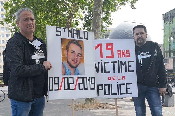 Le père d'Allan (à droite) voudrait que la vérité éclate à propos du décès de son fils au commissariat de Saint-Malo en février 2019