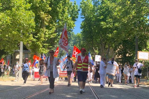 Près d'un millier de manifestants était dans les rues de Montpellier ce mardi pour exprimer sa colère - 30 juin 2020