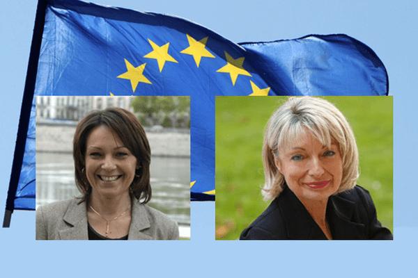 Sylvie Guillaume (PS, groupe socialistes et démocrates) et Françoise Grossetête (UMP, groupe PPE)