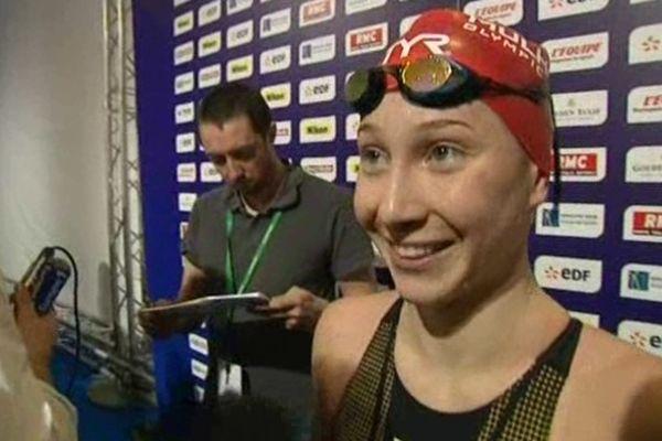 Camille Wishaupt aux championnats de France de natation