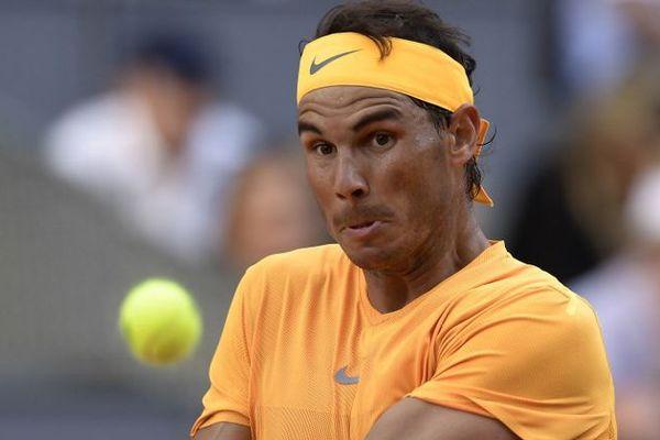 Rafael Nadal en quart de finale du tournoi de Madrid, le 11 mai 2018