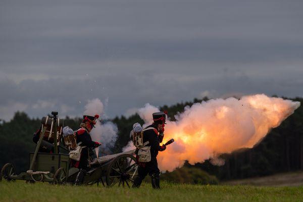 Reconstitution d'une bataille Napoléonienne.
