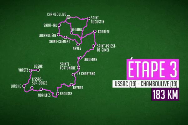 3ème étape : Ussac (19) - Chamboulive (19) - 182.9 km