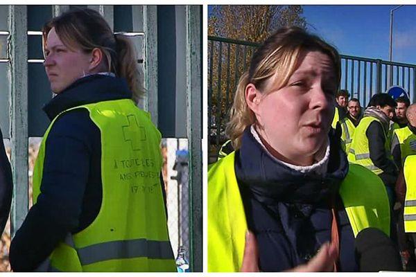 Pendant 1 mois 1/2, elle a été la porte-parole des Gilets jaunes du rond-point de la Motte près de Rouen