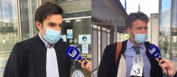 Me Benjamin Genuini et Me Nicolas Brazy, à la sortie du tribunal.