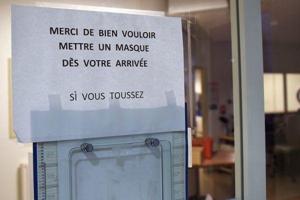 Mesures de prévention dans un hôpital parisien. Photo d'illustration