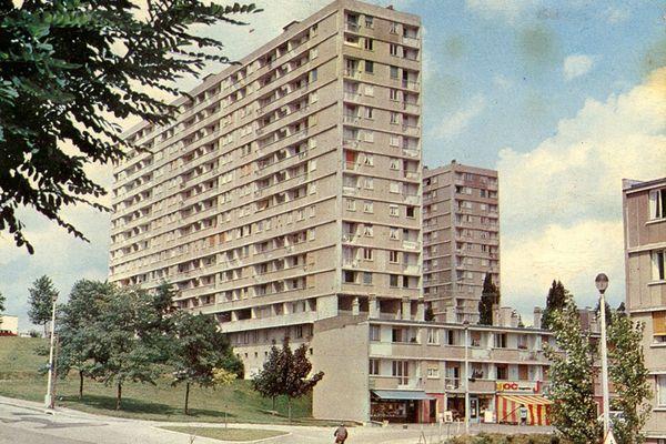 Les tours Gauguin dans le quartier de La Bastide à Limoges dans les années 1970