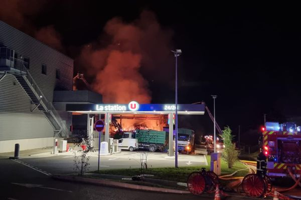 A supermarket as well as a gas station played the storage business affected by the fire.