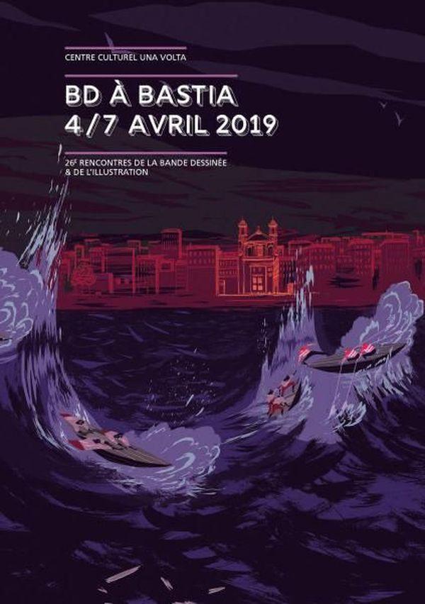 L'affiche 2019 de BD à Bastia, dessinée par Cyril Pedrosa