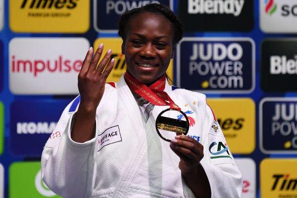 Et de quatre pour Clarisse Agbegnenou, championne du monde de judo en -63 kg à Tokyo - 28/08/2019