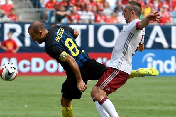 Ribéry s'est montré nerveux, face à l'Inter Milan.