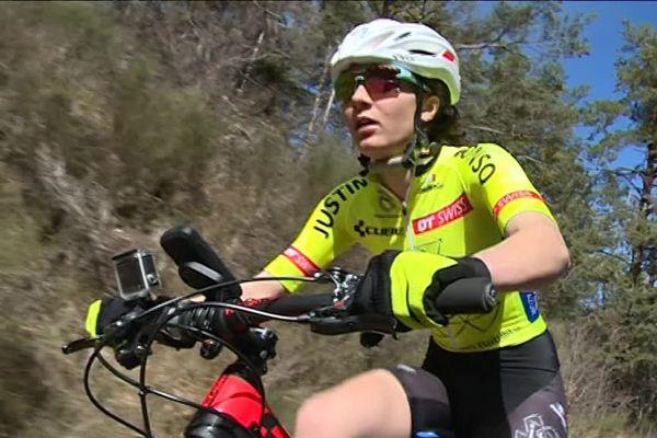 La jeune championne Justine Tonso a terminé 32ème aux championnats du monde de VTT en Suisse.