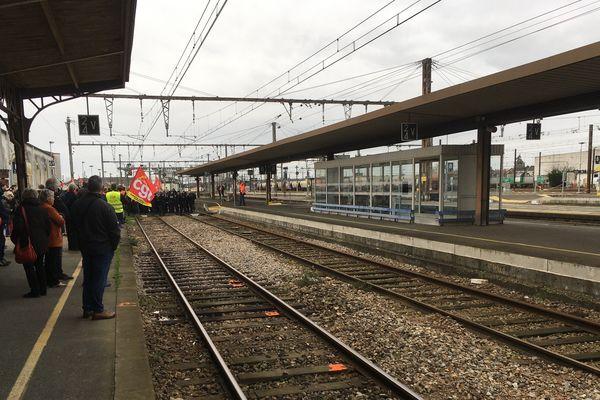 Gare de Vierzon bloquée le 14 janvier 2020