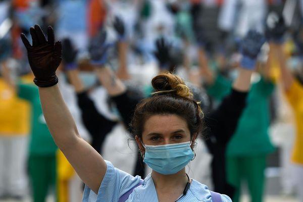 Manifestation des soignants en Espagne durant la crise du Covid-19 - 2020.