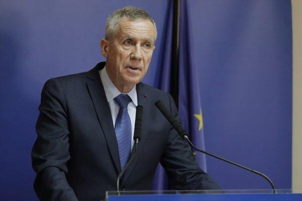 Le procureur de la République de Paris lors de sa conférence sur la tentative d'attentat des Champs-Elysées le 22 juin 2017.