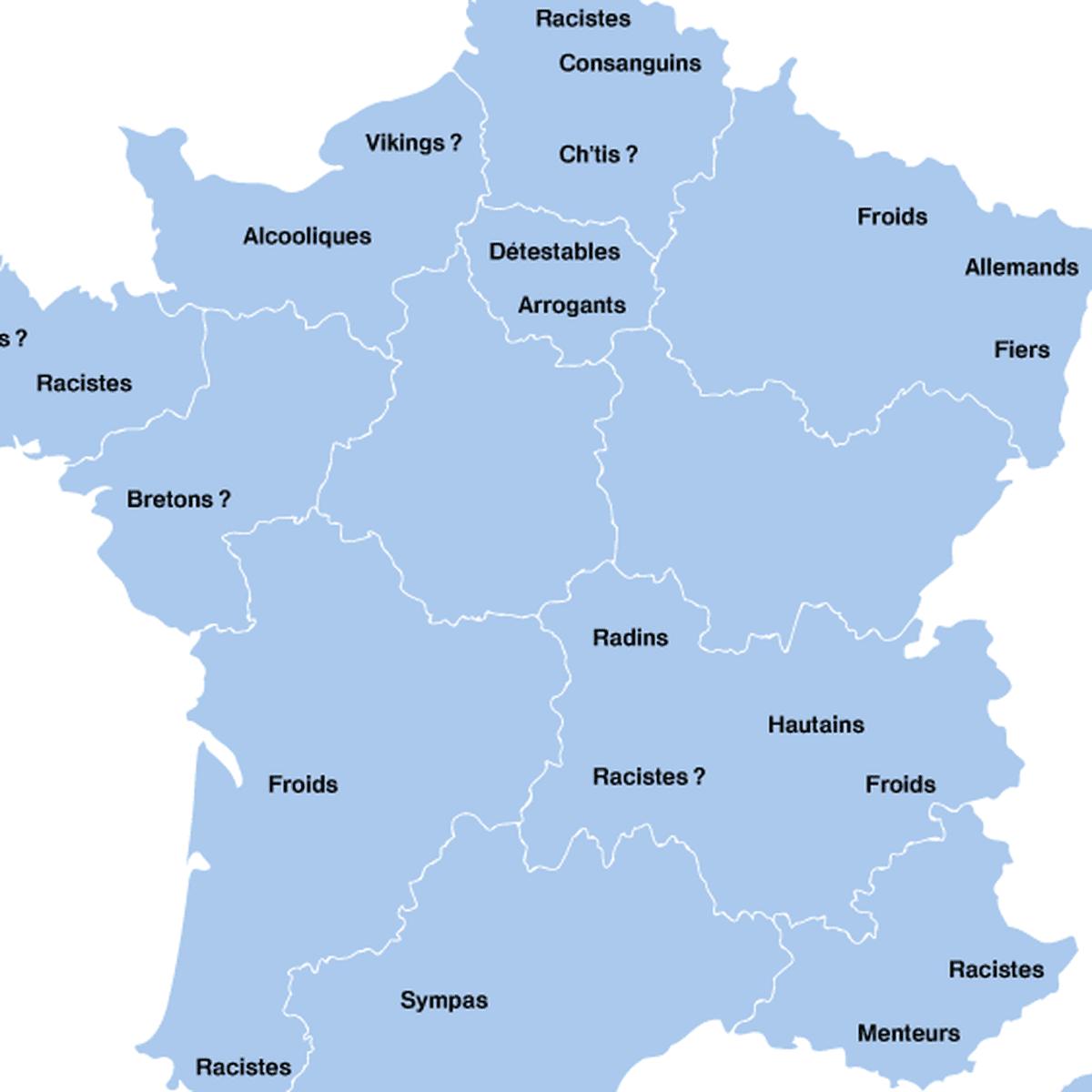 Voici La Carte Des Prejuges Associes Aux Habitants De Chaque Region Selon Google