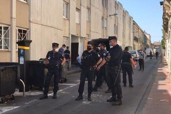 D'importants moyens de police ont été déployés ce jeudi matin pour déloger les occupants du squat Bonnard à Montpellier - 23 juillet 2020.