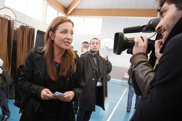 Julie Lechanteux, lors des élections départementales de 2015