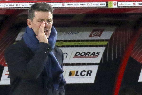 Stéphane Jobard, l'entraîneur de Dijon FCO, le 12 janvier 2020