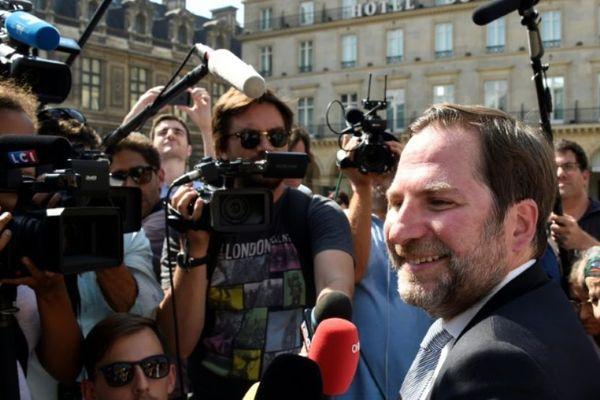 Patrick Spinosi, l'avocat de Willy Bardon, soupçonné du meurtre et du viol d'Elodie Kulik dans la Somme en 2002, en août 2016 à Paris